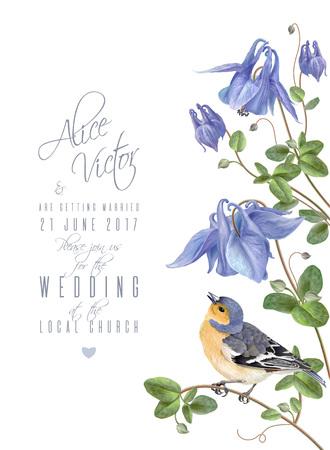 푸른 꽃 새