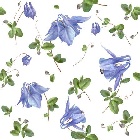 Blue flower pattern Illusztráció