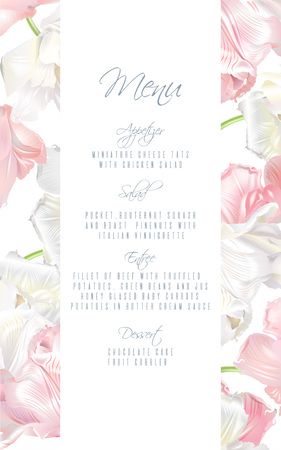 Tulip menu card pink
