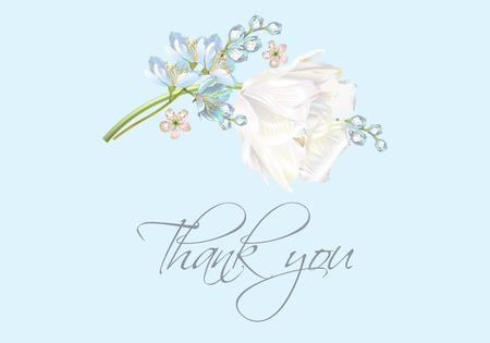 Tulip thank you blue Illustration
