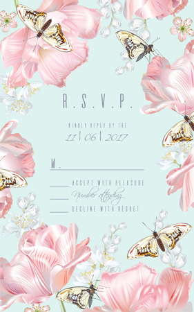 Tulip butterfly RSVP