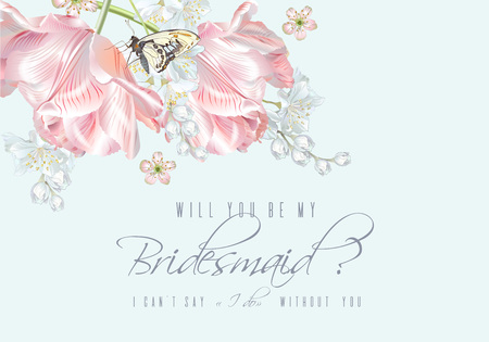 Tulip butterfly bridesmaid