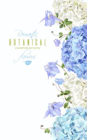 Hydrangea hortensia verticale banner blauw