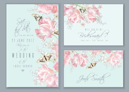 Ensemble de papillons tulipe Banque d'images - 87575676