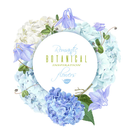 Hydrangea round blue