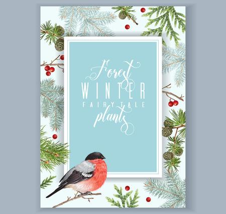 Winter bullfinch A 4 banner