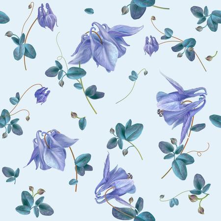 푸른 꽃 패턴