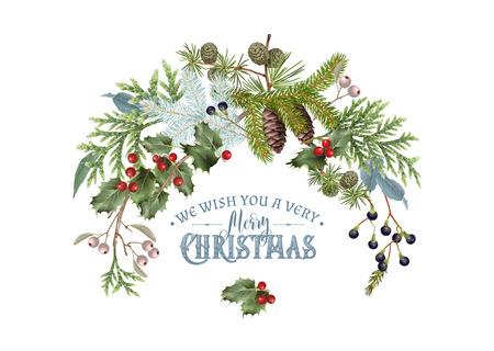 enebro: Composición de rama de Navidad