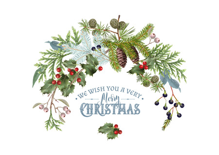 Tak Kerstmis samenstelling Stockfoto - 88597986