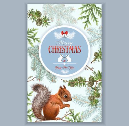 Christmas squirrel frame