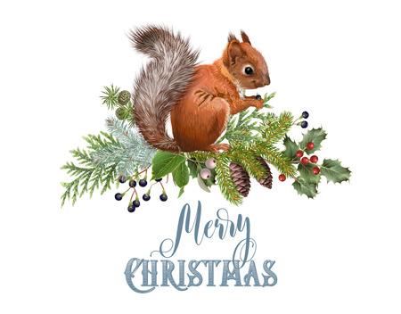 Winter squirrel composition