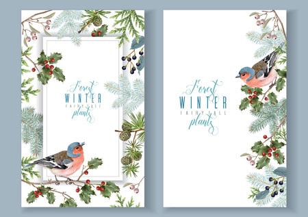 Bird winter banners