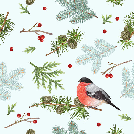 Winter bullfinch pattern