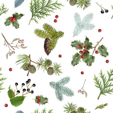Branch Christmas pattern Banco de Imagens - 89454544