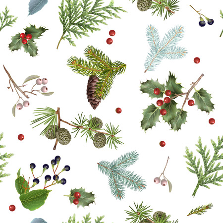 Branch Christmas pattern