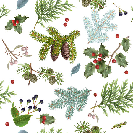 크리스마스 패턴을 분기합니다. 스톡 콘텐츠