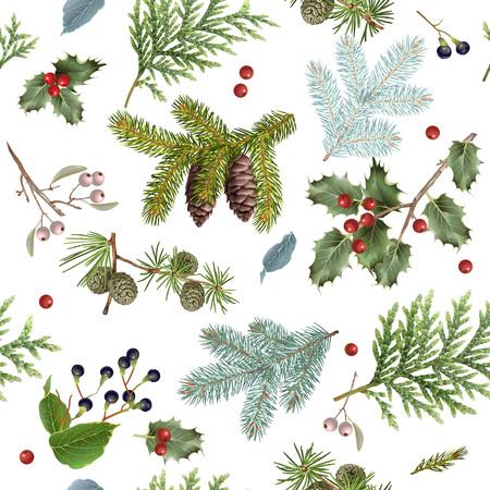Branch Christmas pattern