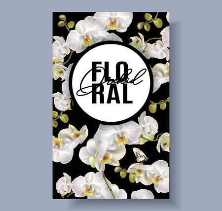 Floral orchid banner