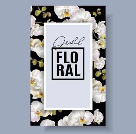 Floral orchid frame