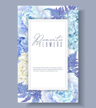 Bloemen blauw frame