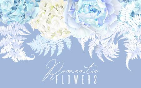 Floral blue horizontal border