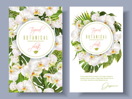 Orchid green white banners