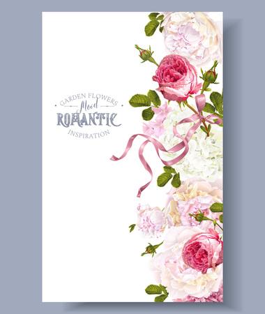 Romantic garden border design