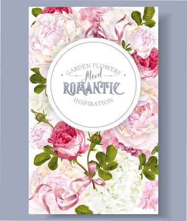 Romantic garden banner design.