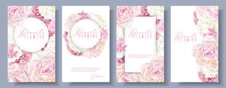 Romantic flowers banner set Standard-Bild - 96623585