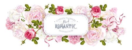 Romantic garden web banner