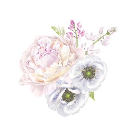 Peony anemone composition.