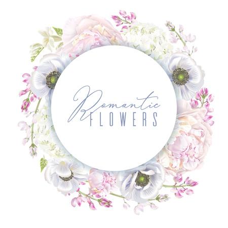 Peony anemone wreath