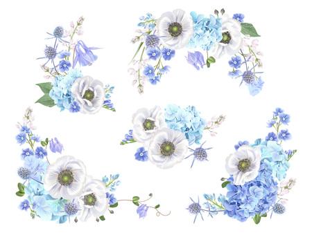 Blue anemone set