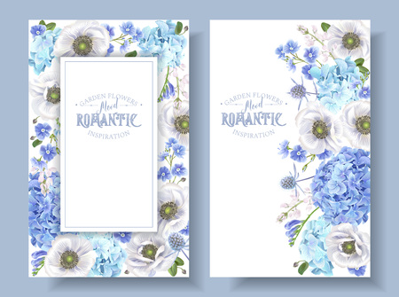 Blue anemone banners
