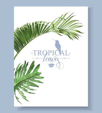 Tropic leaves banner