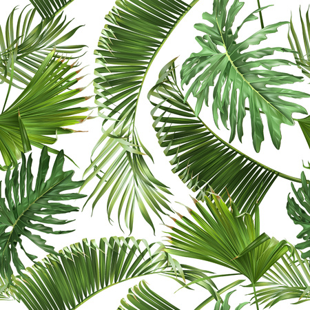 Tropical leaves pattern Ilustrace