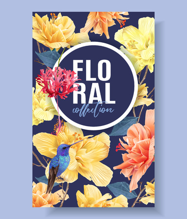 Tropic floral banner