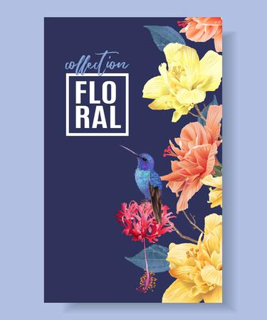 Tropic floral border