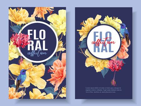 Tropische Blumenfahne Standard-Bild - 103022580
