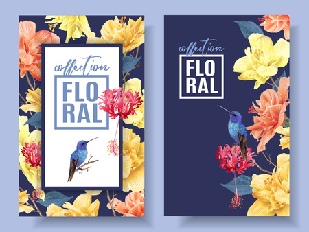 Tropic floral banners