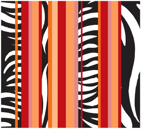 african zebra wallpaper Stock Vector - 8956762