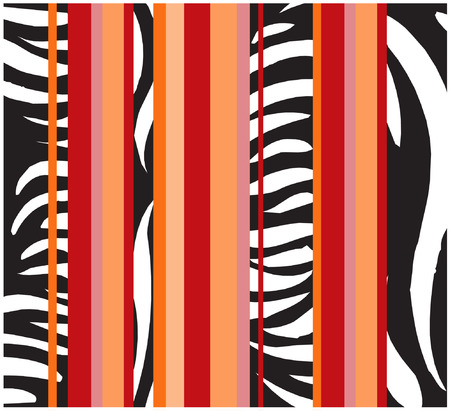 zulu: african zebra wallpaper Illustration