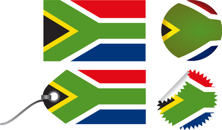 south african flag: South African flag set