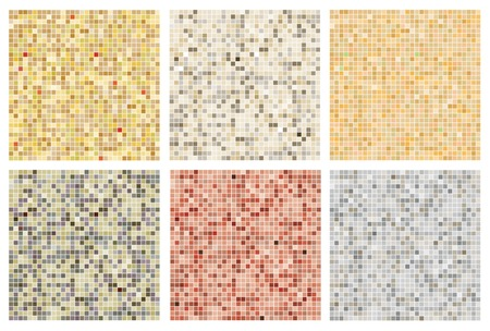 tile pattern: Seamless mosaic tile pattern in neutral colours Illustration