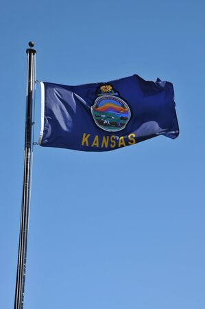 Flag of the state of Kansas