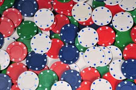 wide view of poker chip abstract Stok Fotoğraf