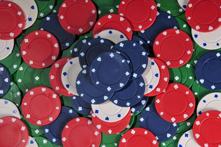 stacked abstract of poker chips