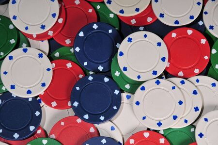 abstract background of poker chips