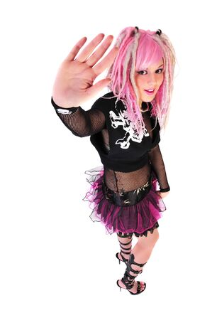 punk fashion by a woman with pink hair Stock Photo - 4021672