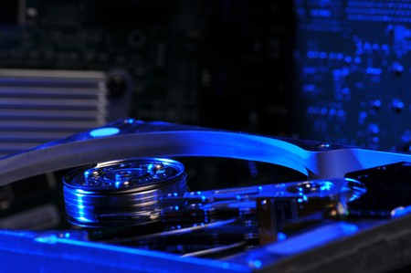 Selective focus tschno back drop blur hard drive Stock Photo - 4029080
